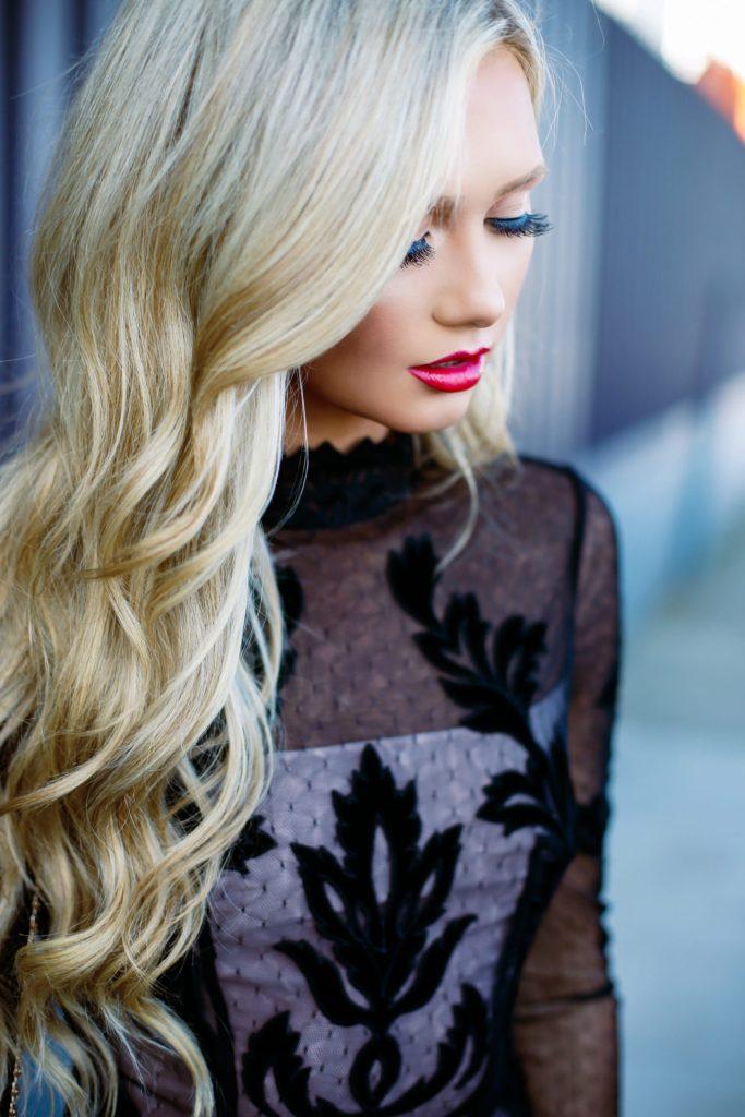 Stephanie-Danielle-TheCityBlonde-Black-Lace-Dress-6880