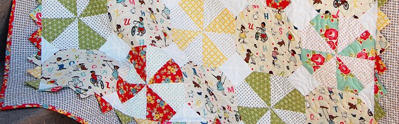 Make This: Prairie Pinwheel Baby Quilt Tutorial