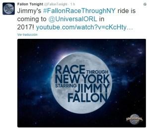 Jimmy Fallon tweet atracción
