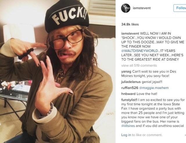 Steven Tyler Instagram