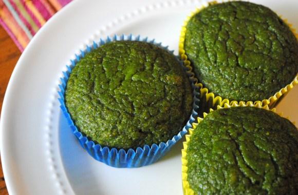 Spinach Banana Muffins, AKA Green Cupcakes