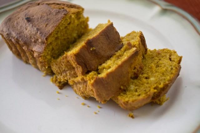 Yellow Cake Mix Pumpkin Cloves Eggs Bread