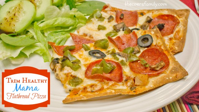 Trim Healthy Mama flatbread pizza from thecoersfamily.com