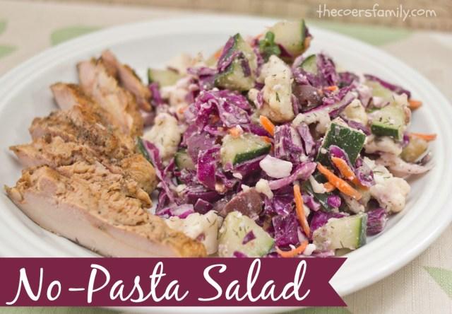No Pasta Salad
