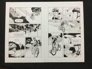 Page 2 and 3 of my new graphic novel, RailQuest