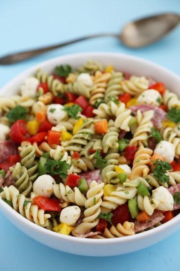 Italian Pasta Salad ~ Quick and easy summer recipe