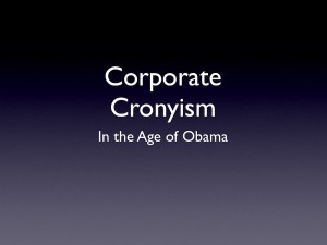 corporate cronyism