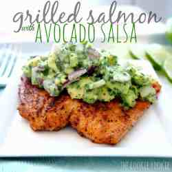 Ideal Dinner What Goes Good Salmon Cakes Salmon Color Avocado Salsa Salmon What Goes Good Grilled Salmon Recipe