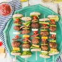 Deconstructed Bacon Cheeseburger Kebabs