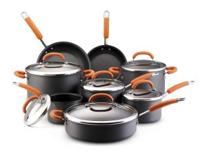 rachael ray hard anodized  orange 14