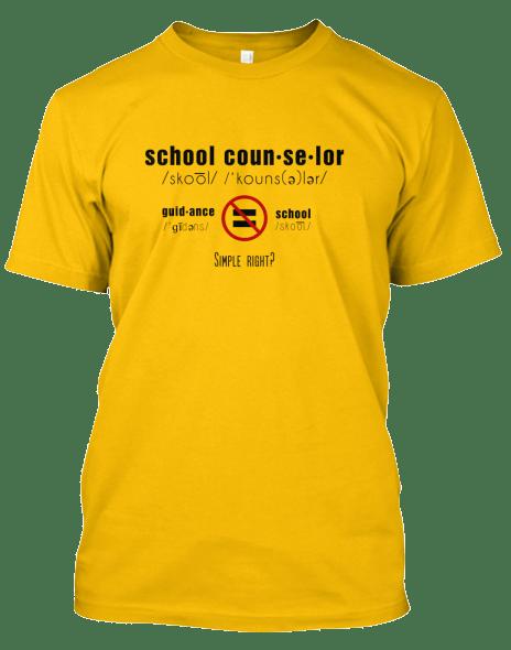 School Counselor not Guidance Counselor shirt