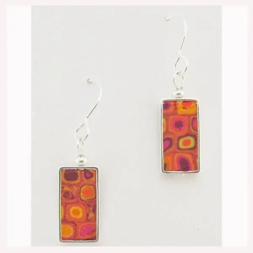 Rectangular Mosaic Earrings