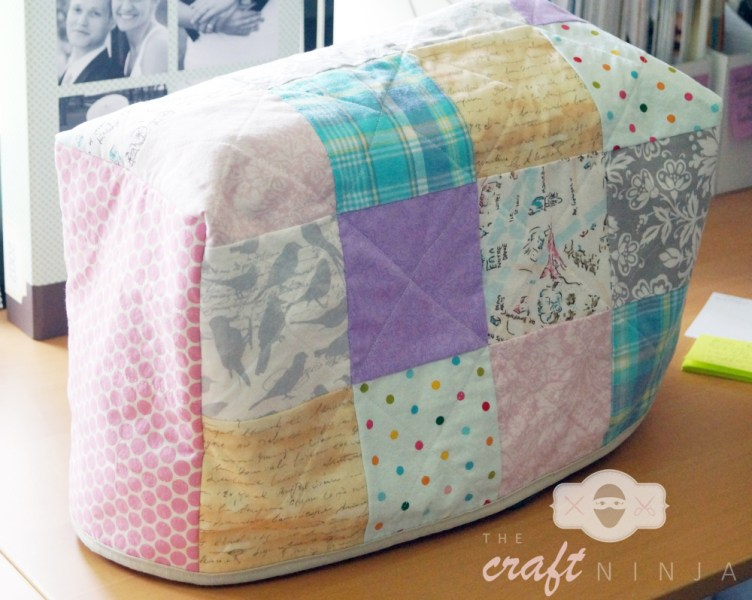 Sewing machine cover, angle