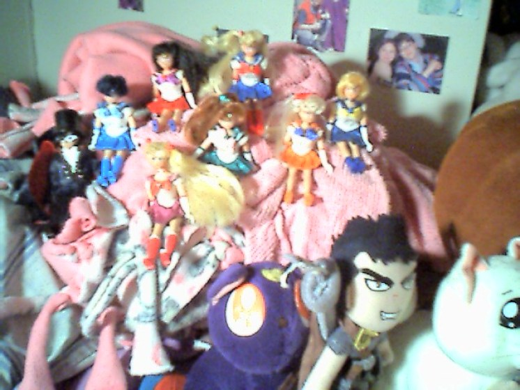 And some mini Sailor Moon dolls. I still have Luna!