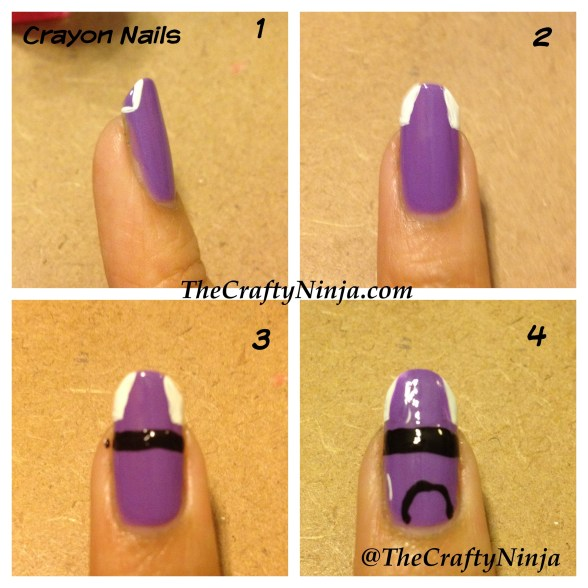 crayon nails diy