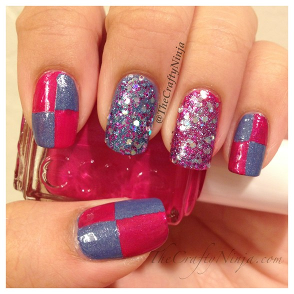 Checkerd nails