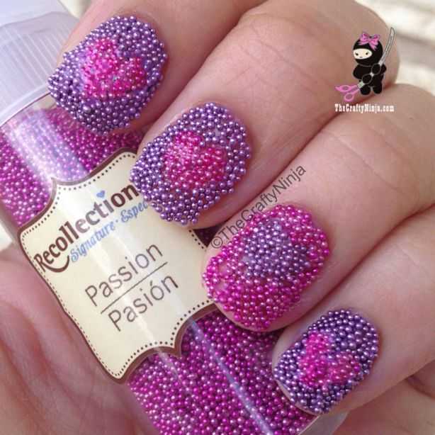 mircobead heart nails