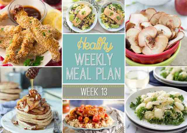 Healthy Weekly Meal Plan #13