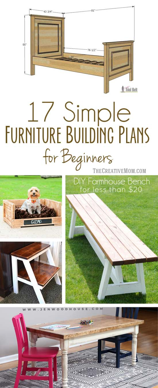 17 Simple Furniture Building Plans for Beginners The