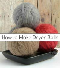 Laundry DIY: How to Make Dryer Balls