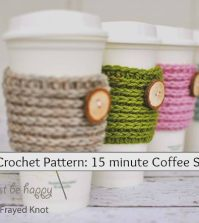 Free Crochet Pattern: 15 minute Coffee Sleveve