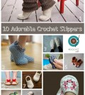 10 Adorable Crochet Slippers numbered