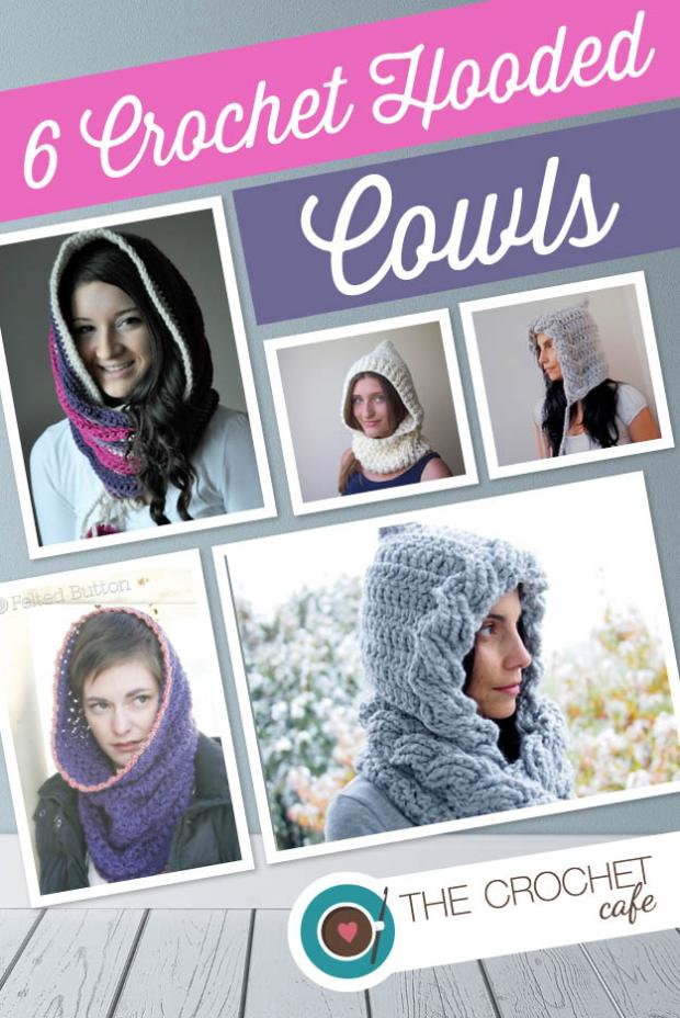 6 Crochet Hooded Cowls