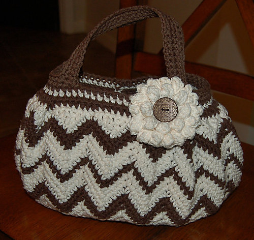 Chasing Chevrons Handbag Purse by A Crocheted Simplicity
