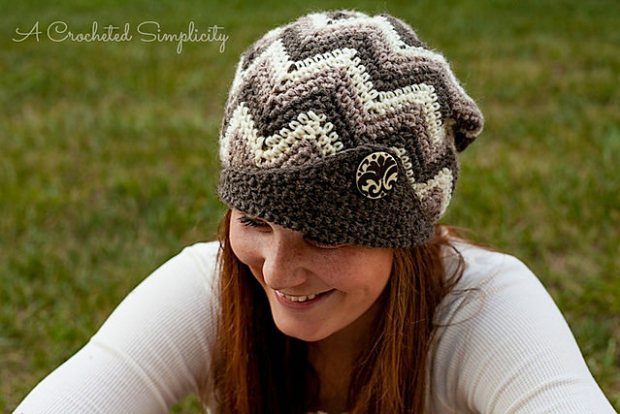 Chasing Chevrons Slouch by A Crocheted Simplicity