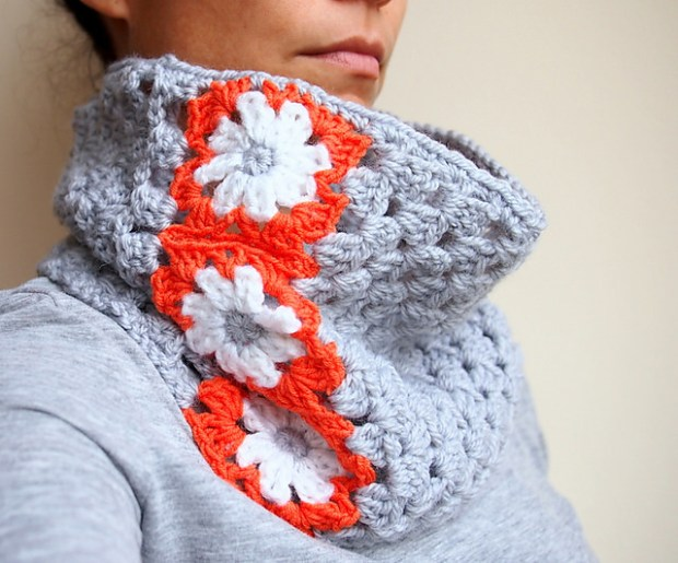 Granny Square Flower Cowl by Accessorise