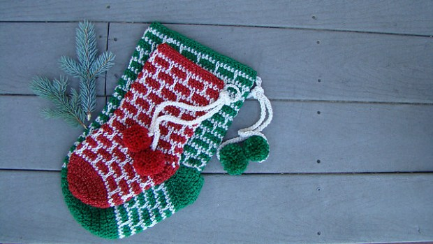 Holiday Sparkle Christmas Stocking by Salena Baca Designs