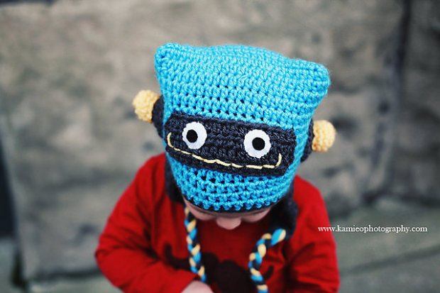 Just Be Happy Robot Hat by Just Be Happy crochet