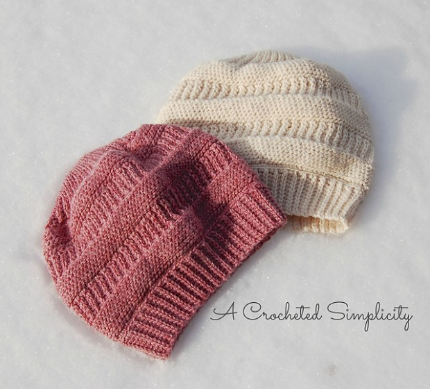 Purl Illusions Slouch by A Crocheted Simplicity