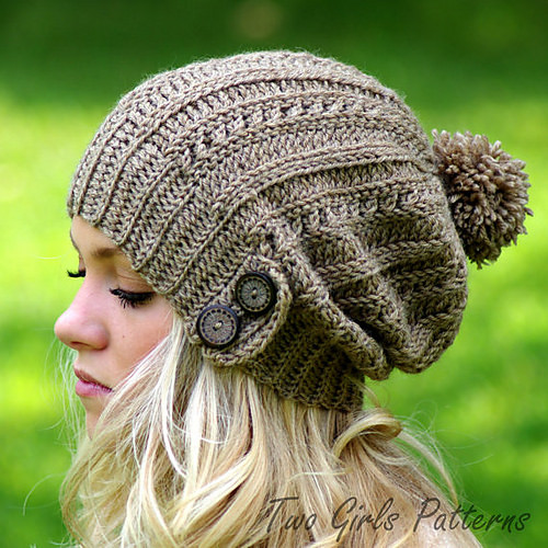 2 Cameron Slouch Hat by Two Girls Patterns