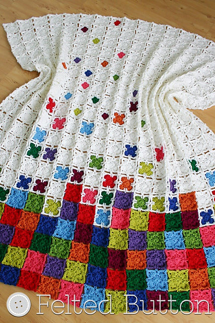 Rainbow Sprinkles Blanket by Felted Button