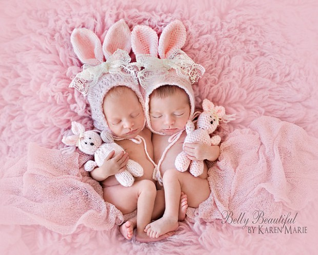 3. Classic Bunny Bonnet and Stuffie Set by Melody's Makings