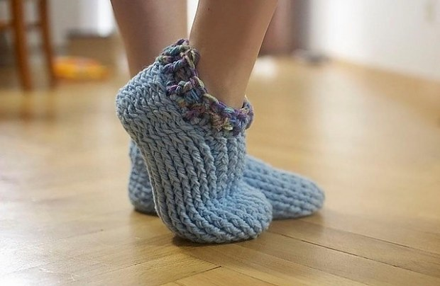 Adult Chunky Slippers by Crochet by Jennifer