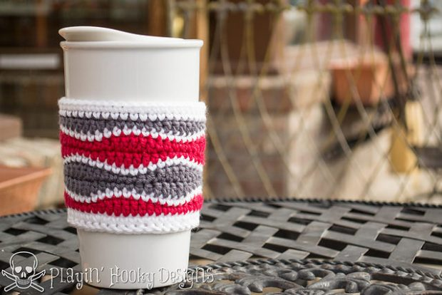 FREE Brain Waves Coffee Cozy by Playin' Hooky Designs