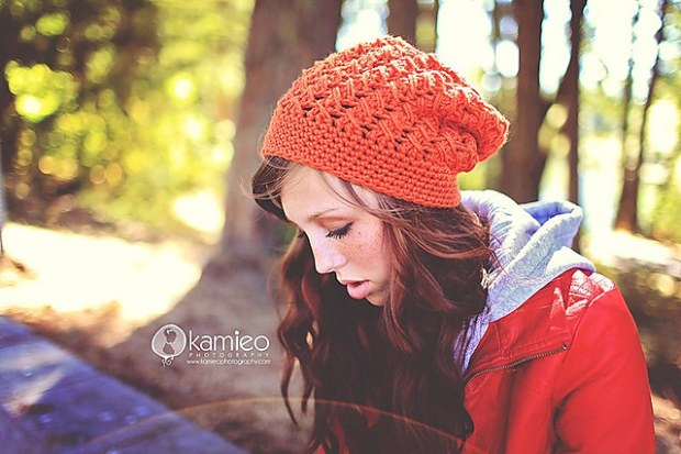Fall Slouch Hat - just be happy