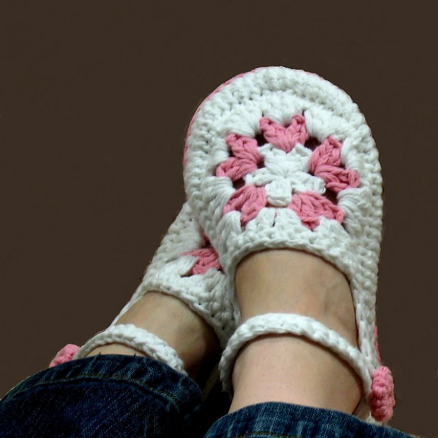 Mandala Women's House Slippers by Ball Hank n' Skein