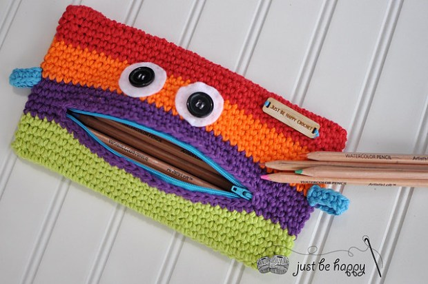 Monster Pencil Case by Just Be Happy Patterns