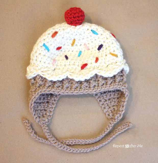 FREE Cupcake Hat by Repeat Crafter Me