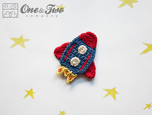 Rocket Applique by One and Two Company