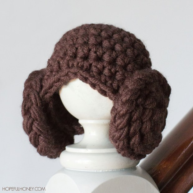 Princess Leia Beanie by Olivia Kent