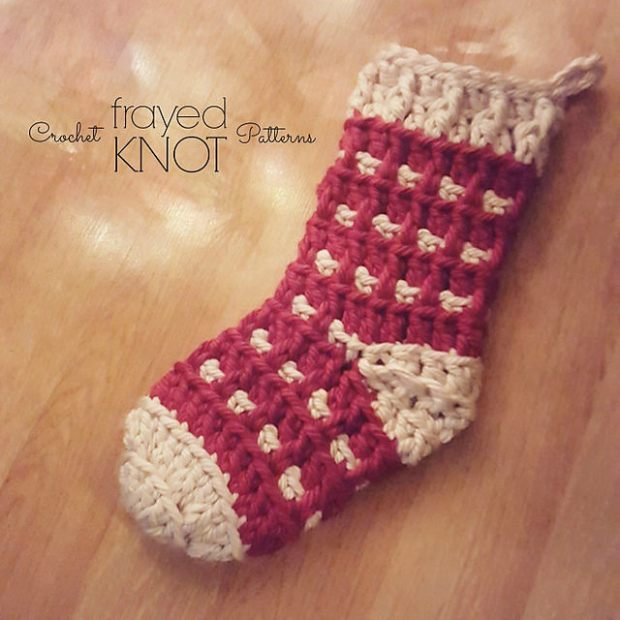 Super Chunky Christmas Stocking by Frayed Knot