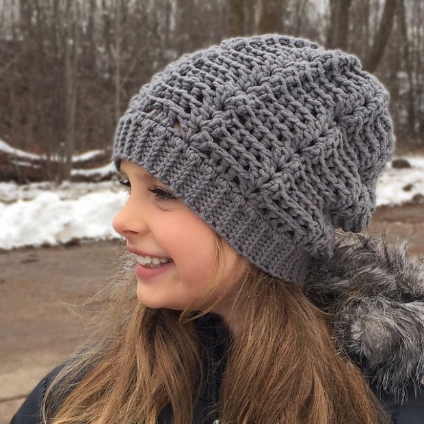 Wave Slouch Hat by Crochet by Jennifer
