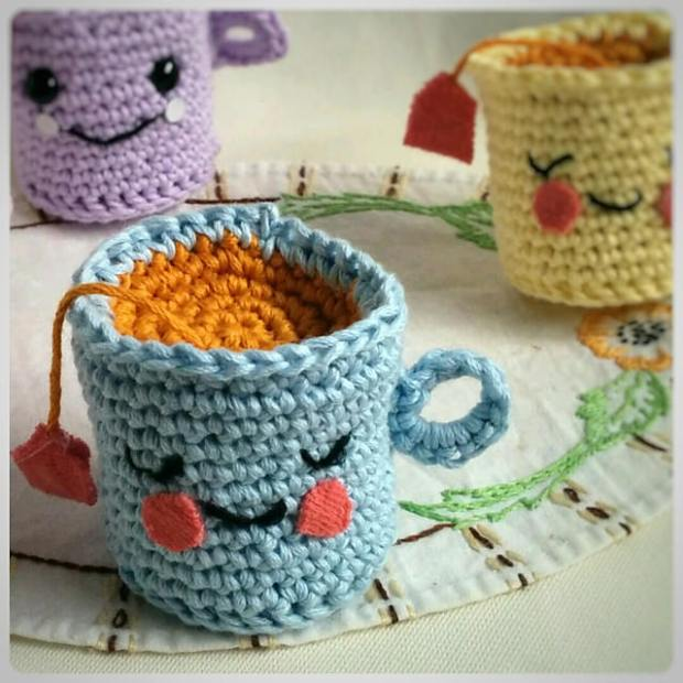 Cutie Pie Tea Cup by CoCo Crochet