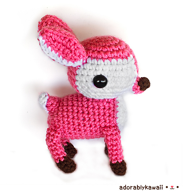 adorably kawaii deer amigurumi Amanda Michelle