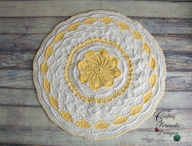 A Round The Flower Garden Afghan by Crafting Friends Designs