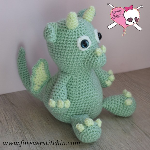 July 25- Trinket the Baby Dragon by Forever Stitchin